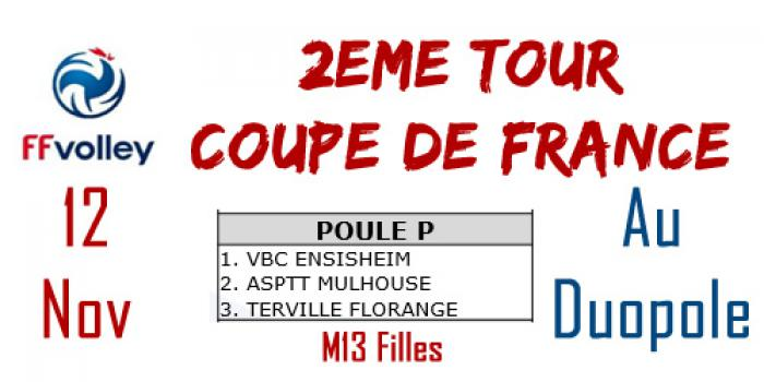 Coupe de France M13 : 2 ème tour